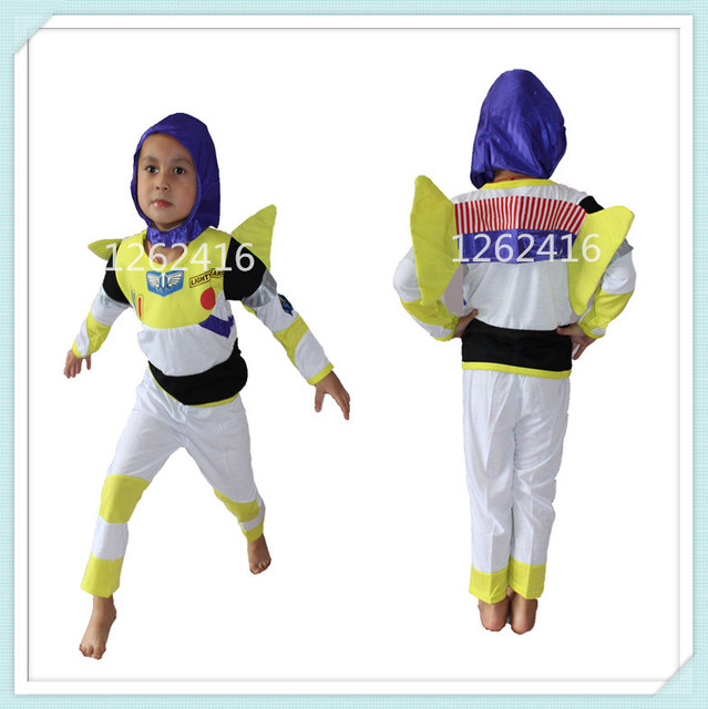 eeff57b52d859 US $61.8 |Sell like hot cakes Halloween Party costumes three piece model  clothing Role playing buzz light year cosplay,kid GHOST cosplay-in Clothing  ...