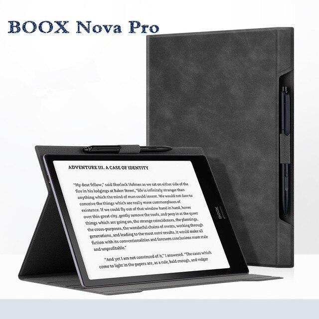 2019 new boox nova pro 홀스터 임베디드 가죽 케이스 전자 책 케이스 탑 오닉스 boox nova pro 7.8 인치 용 블랙 커버 판매