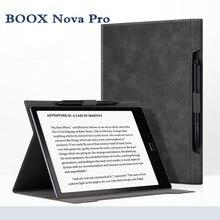 2019 nouveau Boox Nova Pro étui en cuir intégré étui Ebook Top vente couverture noire pour Onyx BOOX Nova Pro 7.8 pouces