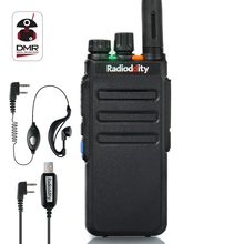 Radioddity GD-77S DMR Dual Band Dual Time Slot Ham Amatör Tvåvägs Radio Digital / Analog Walkie Talkie 1024 kanaler