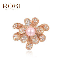ROXI genuine foreign trade best selling a generation of rose gold pink pearl brooch high grade pearl brooch