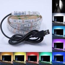 DC 5 В USB источник питания Декор RGB светодиодный светильник лента SMD 5050 1 м лента для ТВ фоновый светильник ing