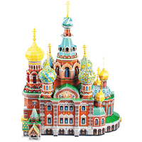 Classic Jigsaw Puzzle Russia Resurrection Bloodthirsty Cathedral Brick Toys Scale Models Sets Building kits Paper Architecture