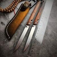 Austria M390 Steel folding knife Pocket Knife Outdoor EDC Tools High Hardness Sharp Tactical Knives wood Handle Knives