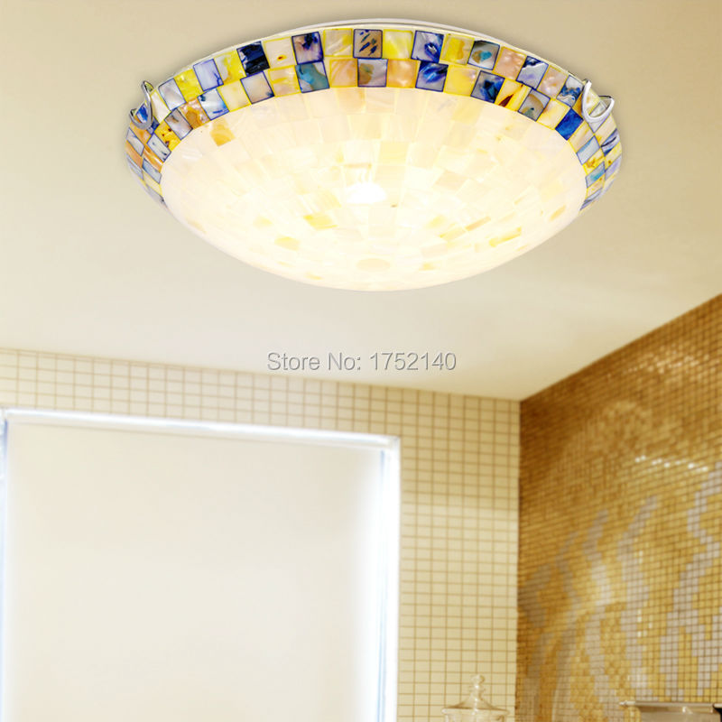 Aliexpress buy creative mediterranean ceiling lights tiffany aliexpress buy creative mediterranean ceiling lights tiffany shell lamp shade bedroom ceiling lamps aisle balcony entrance art lighting from reliable mozeypictures Gallery