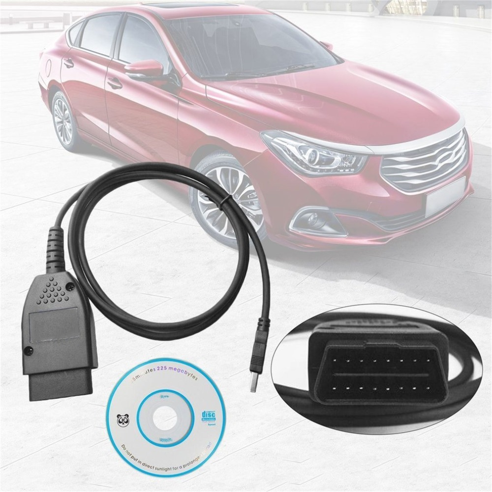 Cable de diagnóstico de fallas de coche interfaz USB 17,1 HEX + profesional (alemán/inglés)