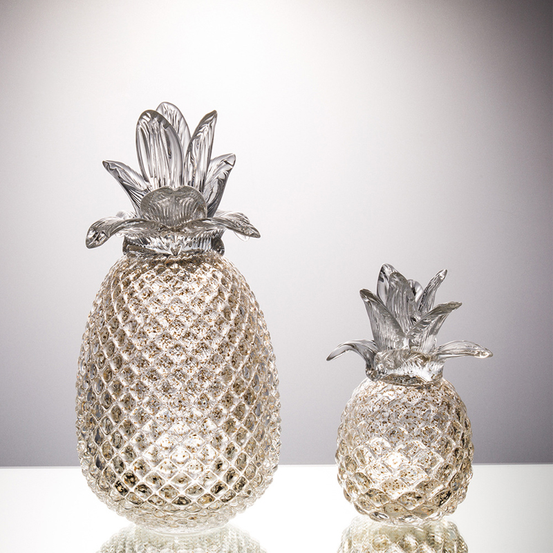 Creative crystal pineapple Ornament plant fruit Arts and Crafts miniature figurines wedding Gifts home decoration accessories