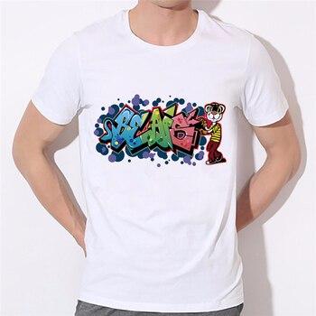 T-shirt Street Graffiti hip hop Manga