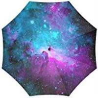 100% Fabric Aluminium Umbrella Custom Space Nebula Universe Foldable Rain Umbrella 3 Folding Parasol Sun Protection Anti UV Z528