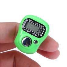 Цифровой мини-маркер для стежков и счетчик пальцев в ряд, электронный ЖК-счетчик для шитья, вязания, переплетения, инструмент, случайный цвет