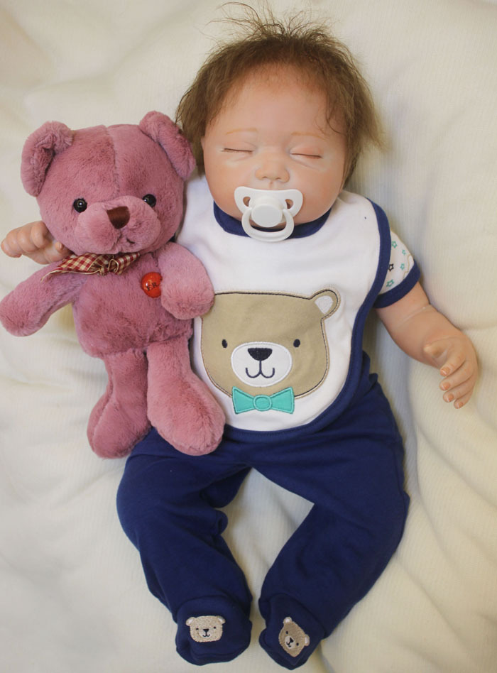 50 cm silicone reborn doll for girls toys 20inch lifelike vinyl  baby dolls toys kids New Years toys baby reborn dolls for sale50 cm silicone reborn doll for girls toys 20inch lifelike vinyl  baby dolls toys kids New Years toys baby reborn dolls for sale