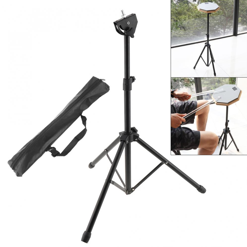 Three-legged Full Metal Aluminum Alloy Adjustment Foldable Floor Drum Stand Holder With Carry Bag For Jazz Snare Dumb Drum
