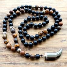 New Design 8MM Tiger stone bead Black Men
