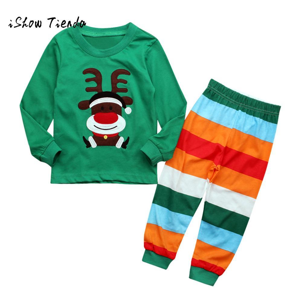 kids christmas shirts Baby Girls Boys clothes winter Deer Tops+ ...