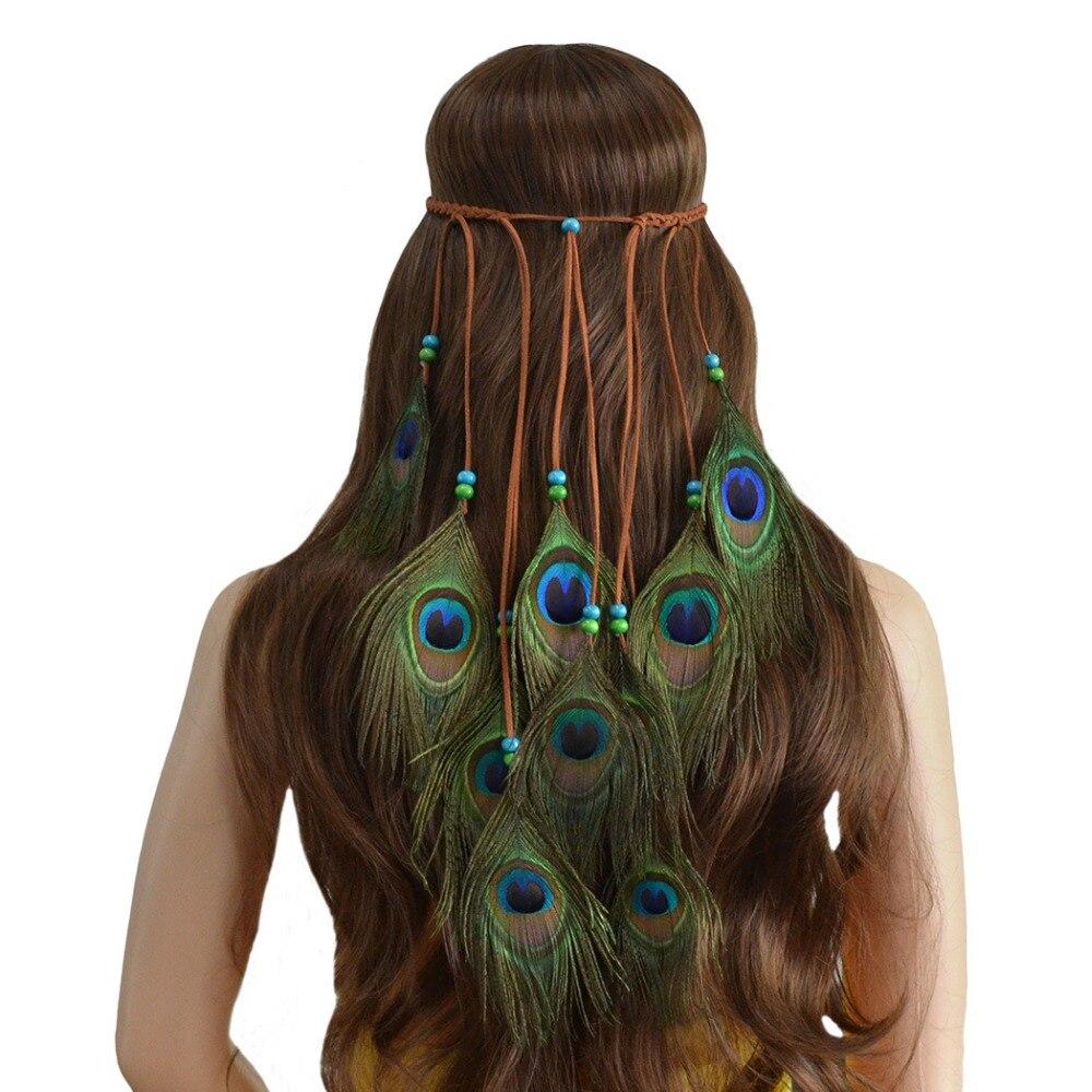 Native American Style Feather Headband Women Hair Accessory Fancy Dress