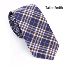 Tailor Smith Top Quality Fashion Tartan Style 100% Cotton Big Palid Necktie Mens Casual Skinny Check Party Ties Cravate Handmade