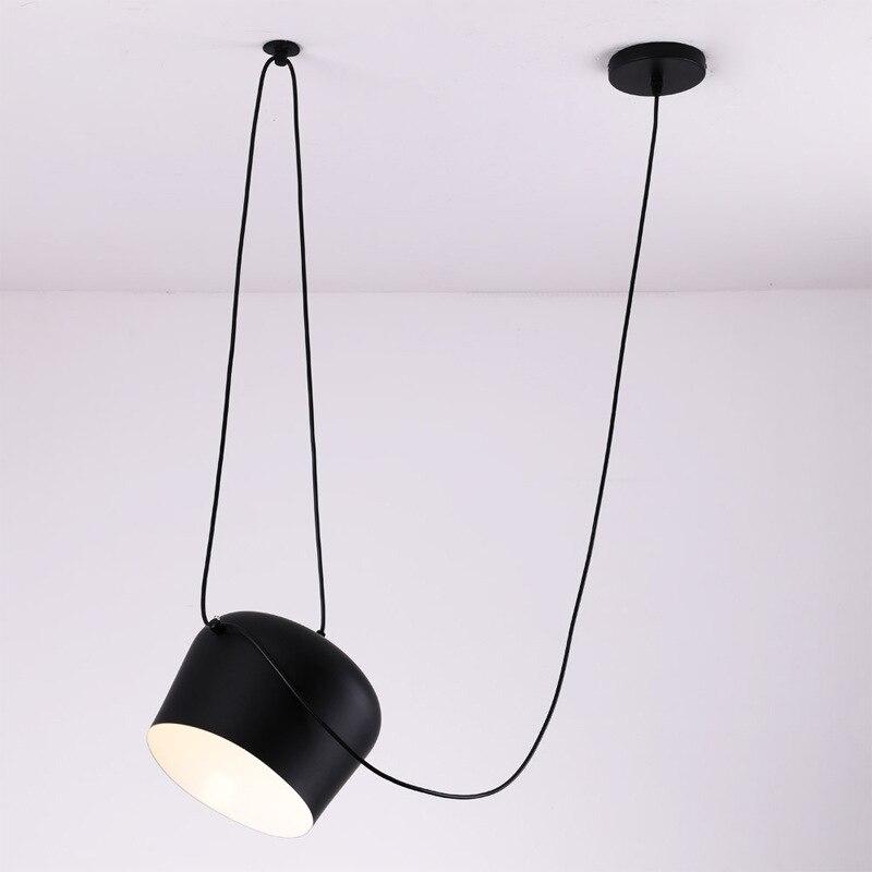 Image 3 - Американский промышленный алюминиевый паук подвесной светильник с акрилом черный белый светодиодный потолочный светильник для офиса кафе бар Декор-in Подвесные светильники from Лампы и освещение