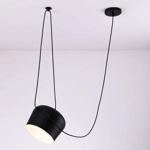 Image 3 - Amerikan endüstriyel alüminyum örümcek kolye lamba akrilik siyah beyaz LED tavanda asılı lambaları ofis Cafe Bar dekor