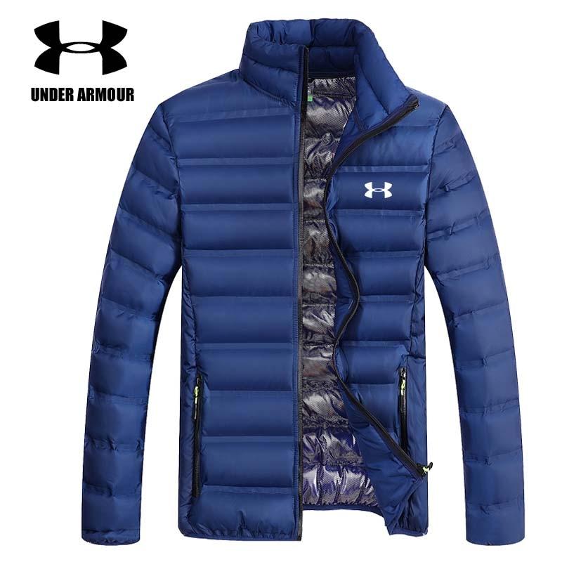 Under Armour winter jackets men outdoor warm cotton coat windbreaker Parkas brand slim fit exercise jackets Asian size L-4XL