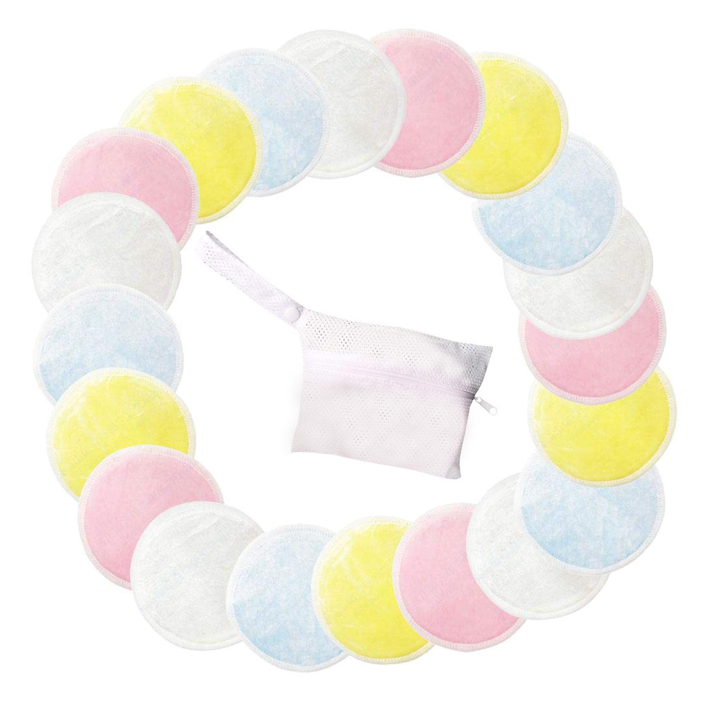 8/16/20pcs Reusable Cotton Pads Make up Facial Remover Double layer Wipe Pads Nail Art Cleaning Pads Washable with Laundry BagFD
