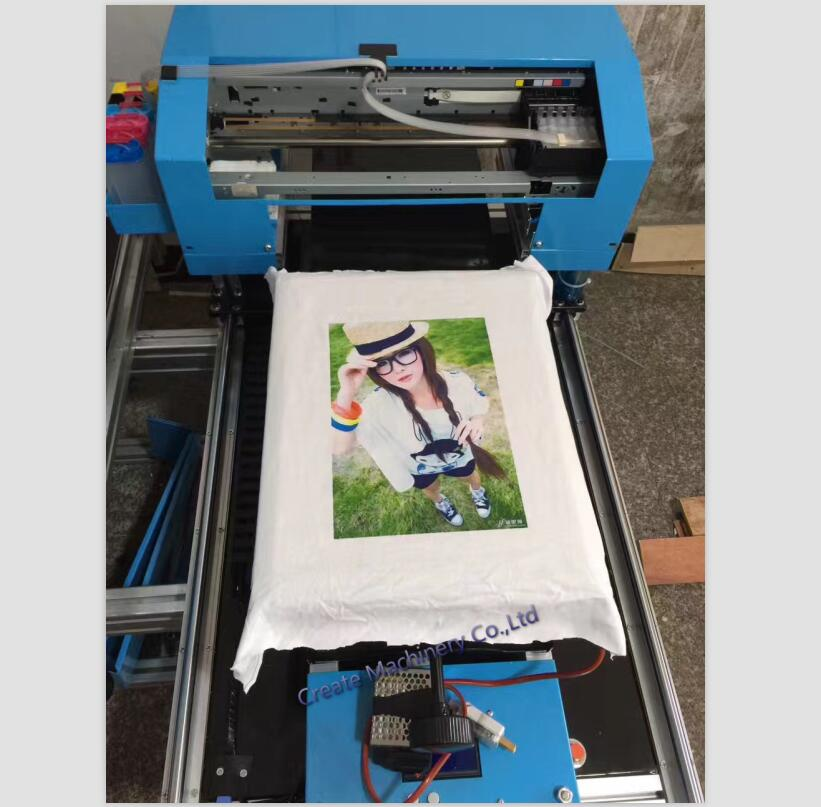 Popular 6 color a3 size t shirt flatbed printer digital for Machine for printing on t shirts