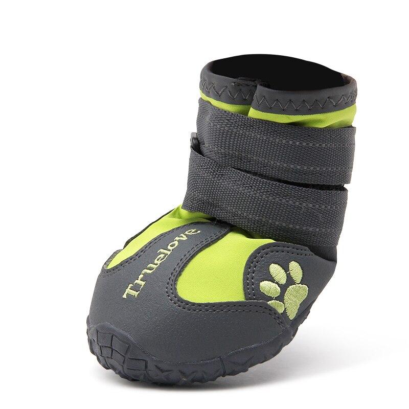 Chaussures pour chien imperméable anti-dérapant bottes de pluie chaud neige réfléchissante pour petit moyen grand animal de compagnie sport formation TLS3961