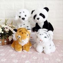 цена на Lovely Simulation Little Tiger Panda Dog Plush Toy Stuffed Animal Plush Doll Children Birthday Gift 20cm