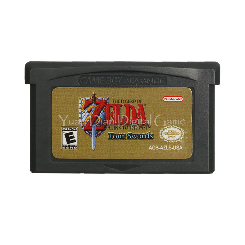 Nintendo GBA Video Game Cartridge Console Card The Legend of ZELDA A Link to the Past Four Swords English Language Version rpg game cartridge final fantasy iv 4 usa version save file english language with real metal screws