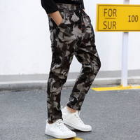 Teenage Boy ClothingNew Kids Camouflage Trousers Kids Pants Boys Trousers Cargo Pants Boys Military Pants Big Size 8 10 12 14 16