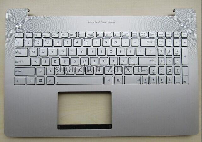 Free shipping New For Asus N550 N550JV N550JK Laptop keyboard UK keyboard Version Silver