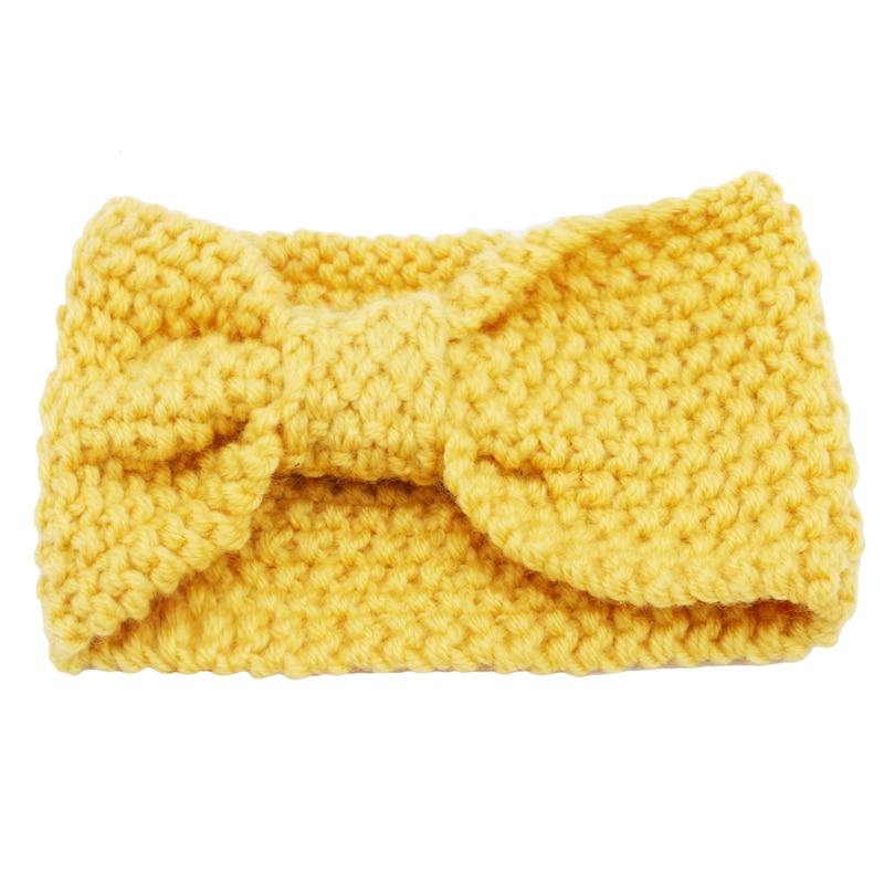 Winter Warmer Ear Knitted Headband Turban Women Lady Crochet Hair Bow Wide Stretch Headwrap Hair Accessories