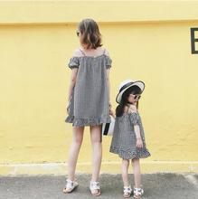 plaid tank dress mother daughter mommy and me clothes family matching outfits look mom mum and girls mini dress clothing fashion summer children girl lemon print dress cotton family clothing mini me kids mom girls casual dress mother daughter matching dress