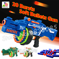 56cm 2016 Big Toy Gun Soft Bullet Electric Machine Gun Army Toys CS Game Gift For Child Boys Nerf N-Strike 20 bursts Blaze Storm