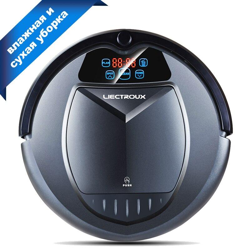 LIECTROUX B3000PLUS robot aspirateur, avec réservoir d'eau, Humide et Sec, withTone, Calendrier, Virtuel Bloqueur, auto Charge, UV, Mat Finition