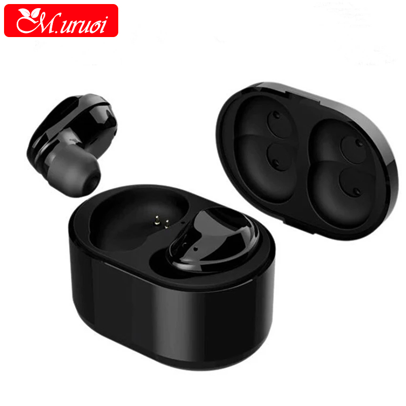 M.uruoi Bluetooth Kulakl k In Ear Wireless Earphones Handsfree With Microphone Headsets For Mobile Phone True Wireless Earbuds you first in ear earphones ear hook wireless bluetooth earphone hands free with microphone for mobile phone iphone6 s 7 plus