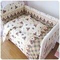 Promoção! 6 PCS conjunto de cama roupa de cama de bebê berço cama de bebê 100% algodão ( pára choques + folha + travesseiro )