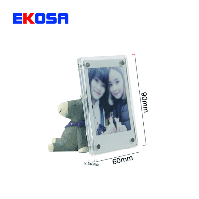 Magnetic Photo Frame For Fujifilm Instax Mini 9 7s 8 25 50s 90 Film Camera Accessories Acrylic Stick Fridge Picture Case magnets