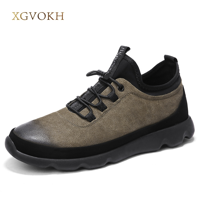 Men Genuine Leather Shoes Classic Fashion Sneakers Mens Casual Shoes Breathable Spring Autumn Men's Lace Up Flats Zapatos Tenis fashion high top mens genuine leather work casual shoes lace up tenis flats footwear breathable male shoes punk zapatos hombre