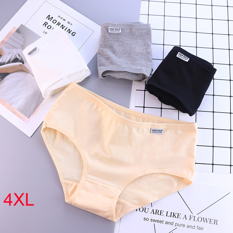 Cotton Panties For Women Ladies Solid Underwear Plus Size Briefs Girls Comfortable Seamless Underpant Shorts Sexy Lingerie Panty
