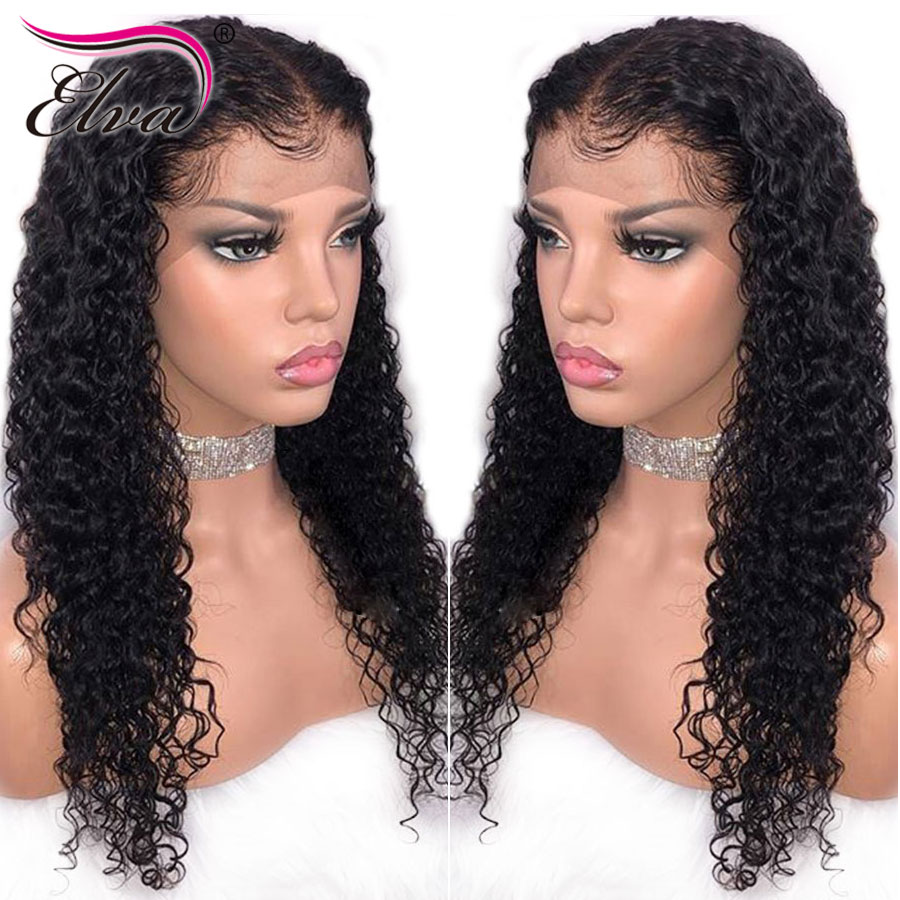Elva Hair Pre Plucked Full Lace Human Hair Wigs With Baby Hair 150% Density Brazilian Remy Curly Human Hair Wigs For Black Women