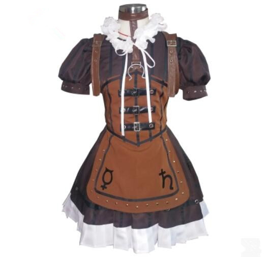 Alice Madness Returns Alice Steampunk Leather Maid Dress Cosplay Costume Halloween costume