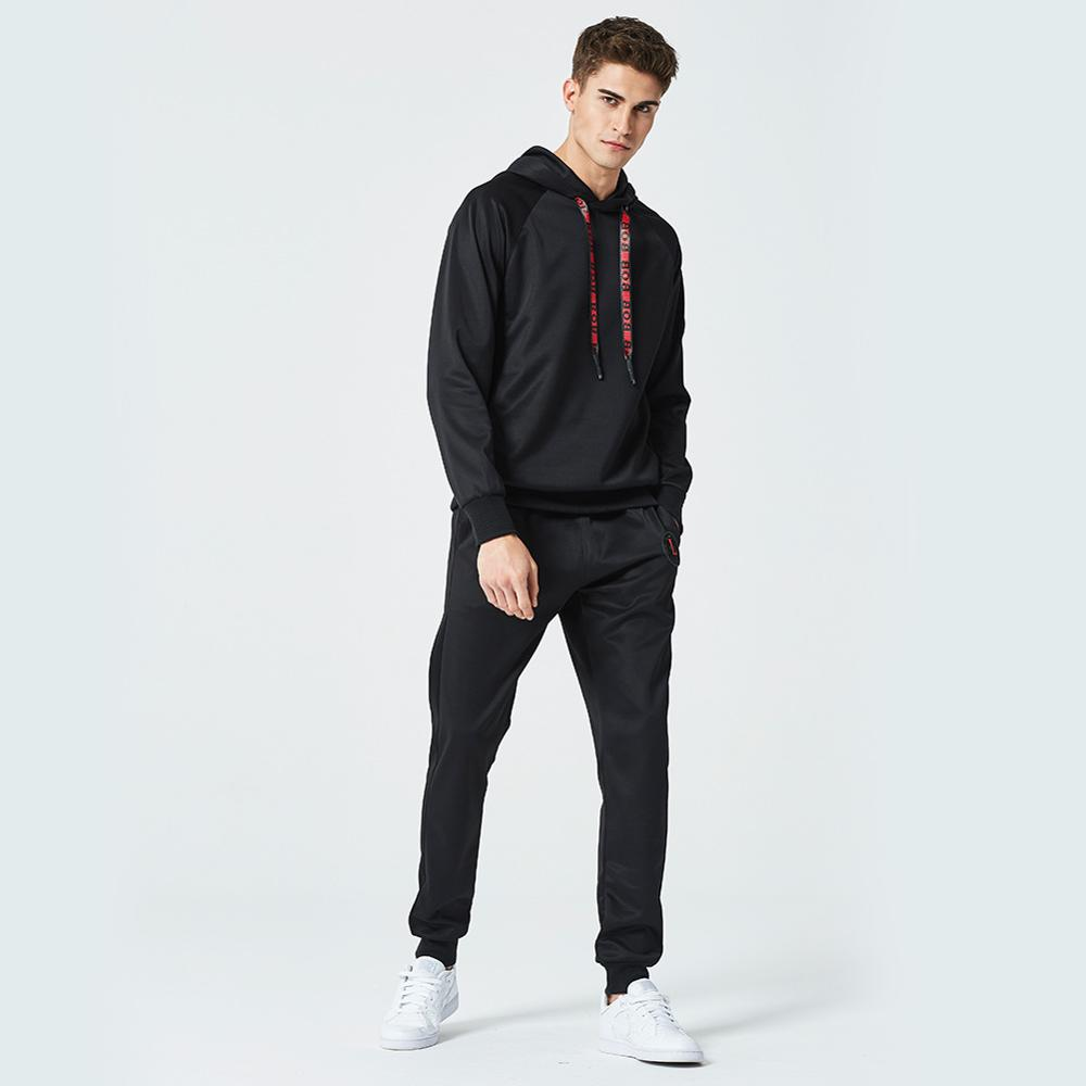 2019 Tracksuit Men Casual Sporting Causal Sweatsuits Streetwear Hoodies+Sweatpants Man's 2 Pieces Set Vetement Homme Euro Size