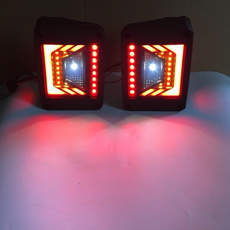 LED Tail Light Reverse Brake Turn Signal Rear Lamps For 07-17 Jeep Wrangler JK T