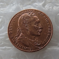 PRUSSIA (German S.) 20 Mark 1913 Proof - Bronze - PATTERN - Wilhelm II Copper Copy Coin High Quality