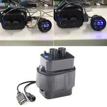 Водостойкий 18650 велосипедный фонарь Аккумулятор Чехол USB 5.V + DC В 8,4 V выход внешний аккумулятор power Bank для мобильного телефона