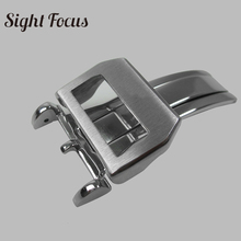 Quality Stainless Steel Deployment Clasp 18mm Watch Band Leather Strap Deployant Buckle for IWC Big Pilot Folding Clasp Men Belt stainless steel deployment clasp silver 18mm watchband leather strap folding buckle butterfly buckles for omega accessories