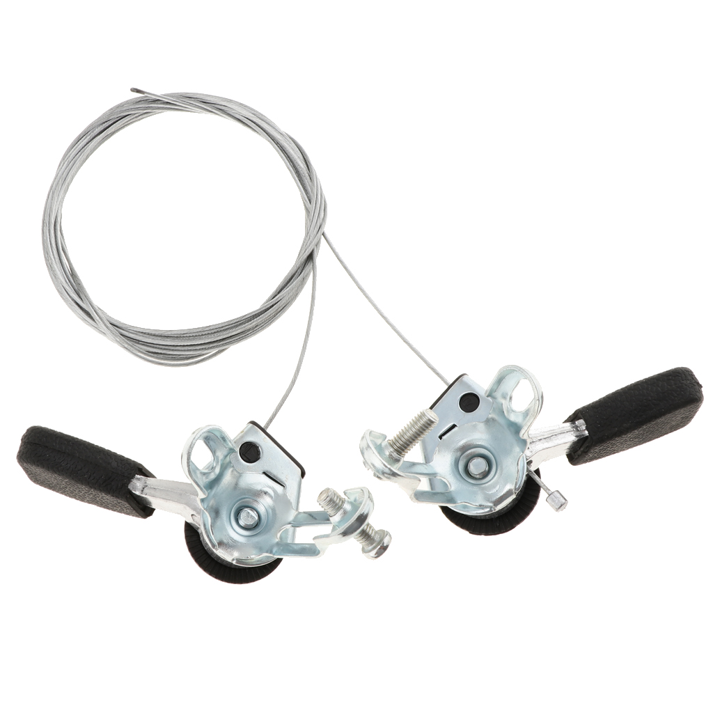 1 Pair 3x6/7 Speed MTB Bike Thumb Gear Shifter Top Mount Shifters With Inner Cable For 22.2mm Diameter Handlebar
