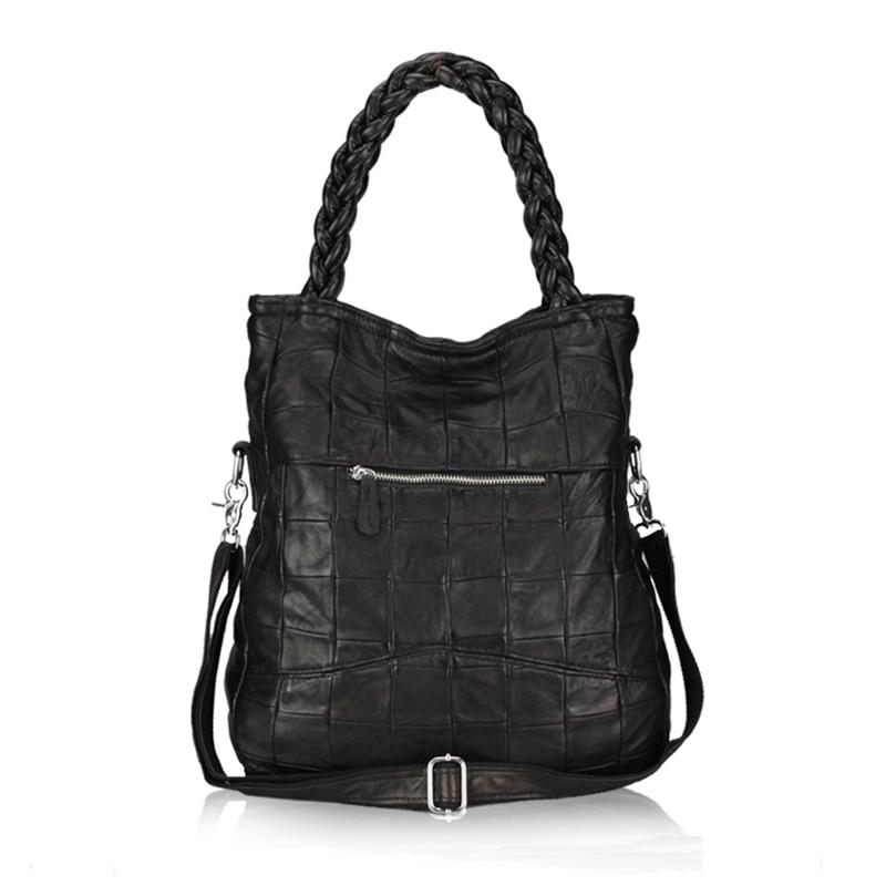 ФОТО New 2017 Fashion Genuine Leather Women Handbag Patchwork Natural Sheepskin Shoulder Bag Famous Brand Women Bag Casual Tote Sac
