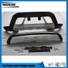 Car accessories luxury front and rear bumper guard for pajero sport 2016 2017 2018 PP material