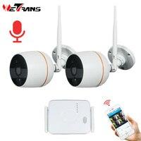 Wetrans видеонаблюдения Камера Системы HD 1080 P Wi Fi мини NVR комплект видеонаблюдения дома Беспроводной IP Камера комплект аудио открытый
